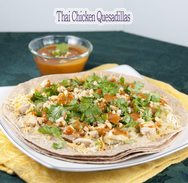 Thai Chicken Quesadillas recipe combines the best flavors of Mexican and Thai into one amazing Asian dinner that is packed full of flavor!