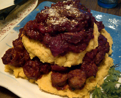 Failed Sausage and Polenta