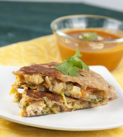 Thai Chicken Quesadillas