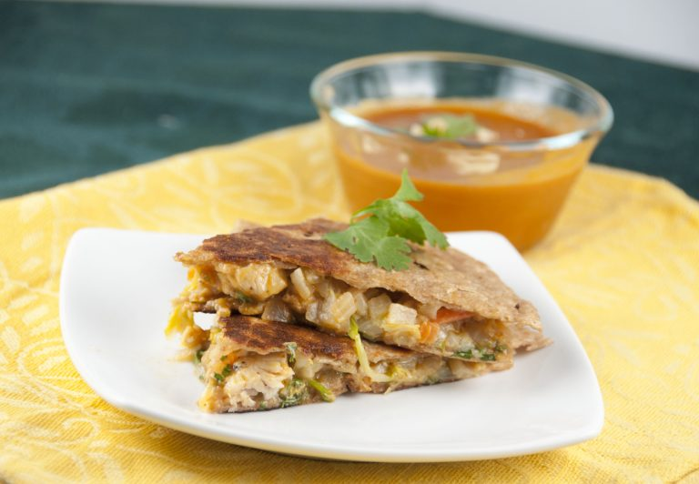 Thai Chicken Quesadillas recipe combine the best flavors of Mexican and Thai into one easy dinner that is packed full of flavor!