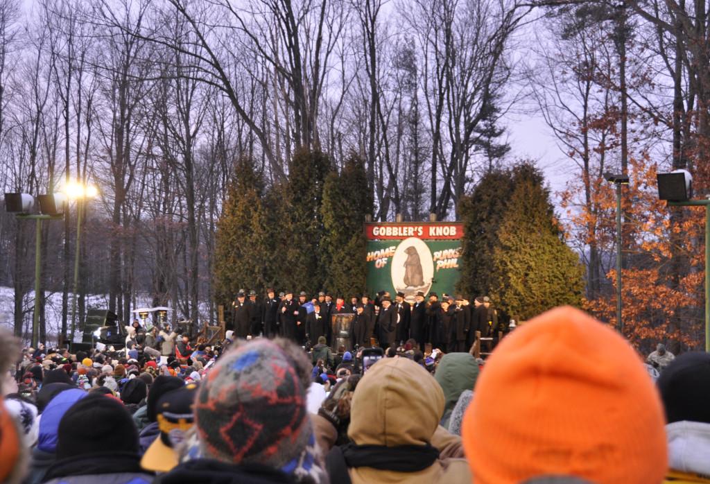 Groundhog Day Weekend, Punxsutawney, Pennsylvania. Gobbler's Knob.