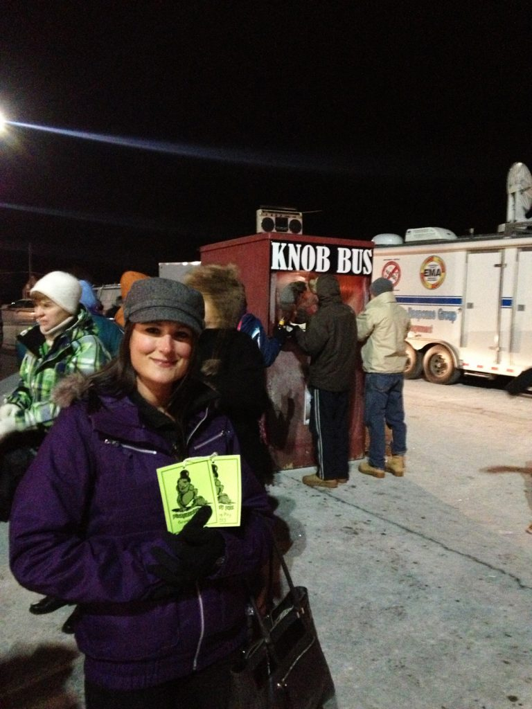 Groundhog Day Weekend, Punxsutawney, Pennsylvania .  Tickets to Gobbler's Knob.