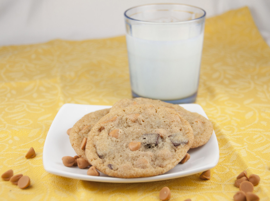 One Bowl Butterscotch Chocolate Chunk Cookies. Easy and made in one bowl!