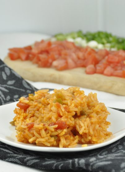 Perfect Mexican Rice. Easy and made with Jasmine rice and salsa.