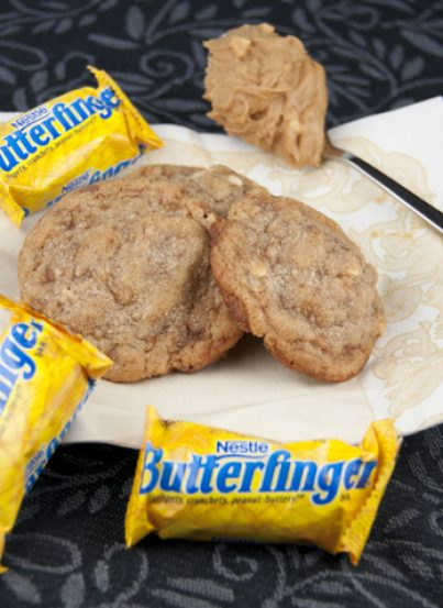 Butterfinger Chunk Cookies Recipe. Use up that leftover Halloween candy!