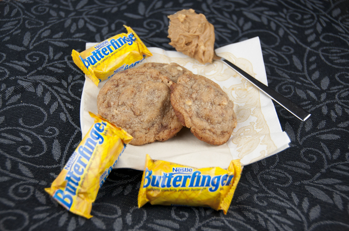 Butterfinger Chunk Cookies are so chewy, rich, buttery and the perfect dessert for any occasion or to use up leftover Halloween candy. You will be in love!