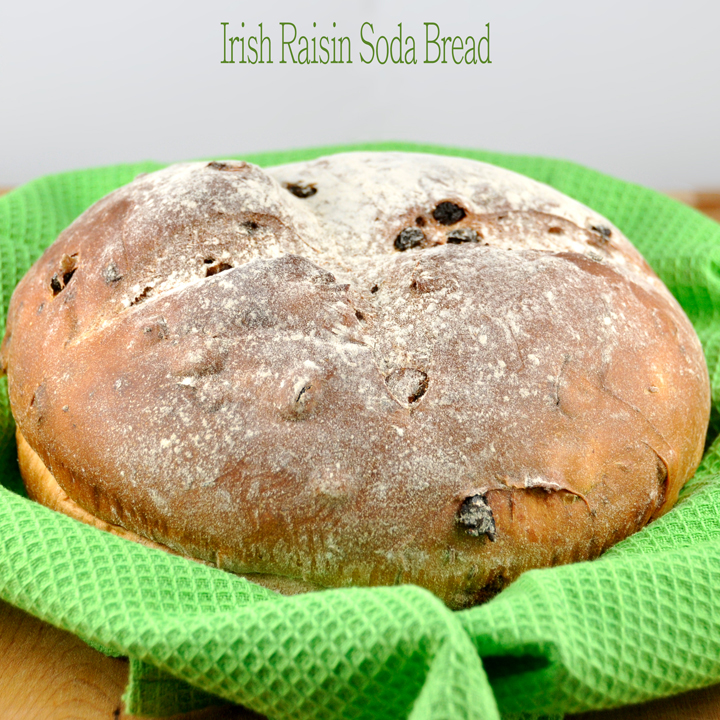 Irish Soda Bread Recipe with Raisins recipe tastes like something straight out of a bakery and is perfect to celebrate St. Patrick's Day!
