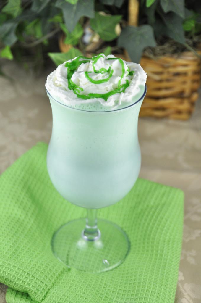 Homemade Shamrock Shake for St. Patrick's Day