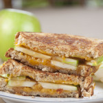 Caramel Apple Grilled Cheese Sandwich