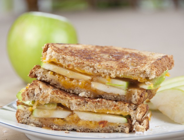 Caramel Apple Grilled Cheese Recipe for National Grilled Cheese Month in April