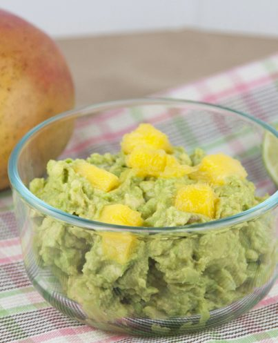Mango Guacamole with Cilantro for Cinco de Mayo Recipe