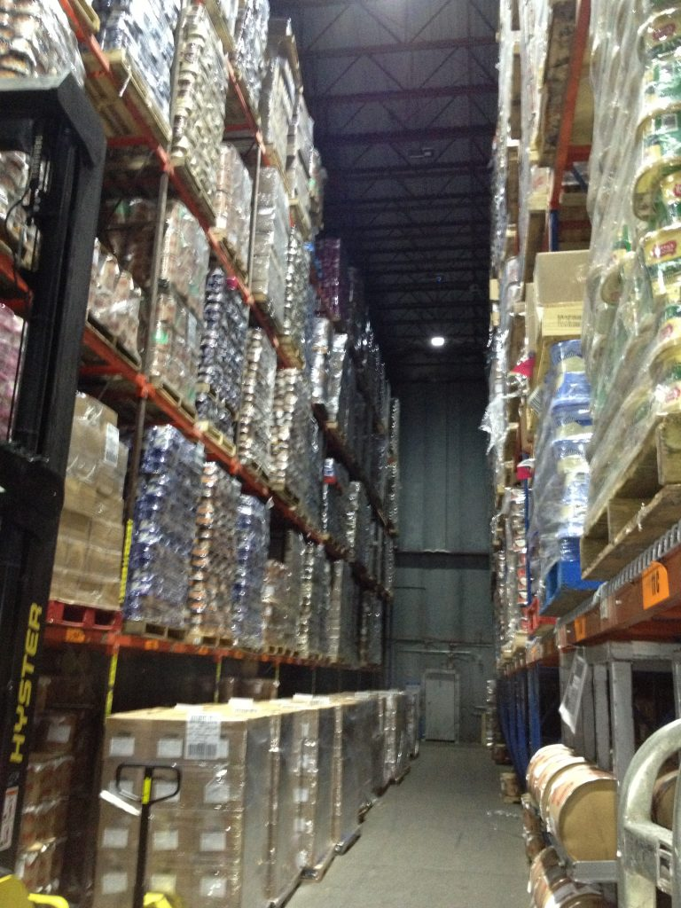 Perry's Ice Cream Tour in Akron, New York.  This is the storage freezer.