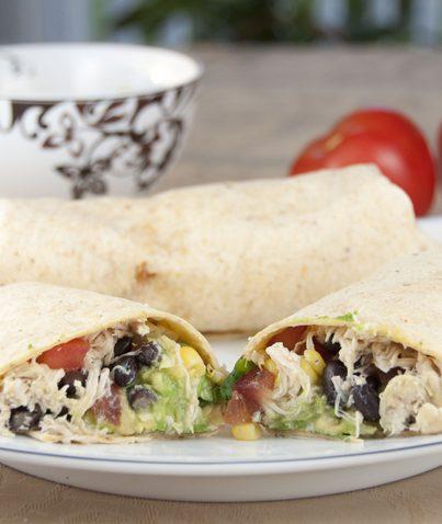 Tequila Lime Chicken and Black Bean Burritos recipe for Cinco de Mayo