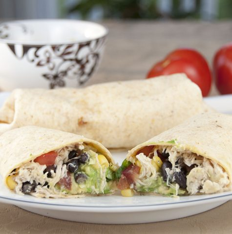 Tequila Lime Chicken and Black Bean Burritos recipe for Cinco de Mayo