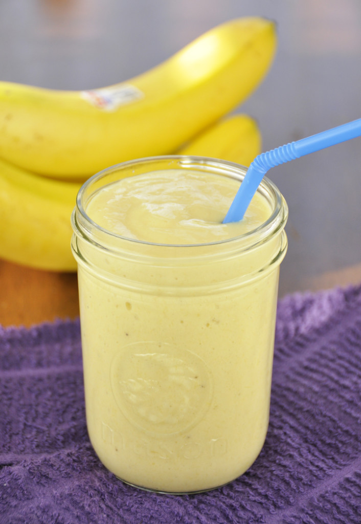 Start your day with this flavorful Banana-Mango Smoothie recipe perfect for a healthy breakfast or a low calorie mid-day snack!