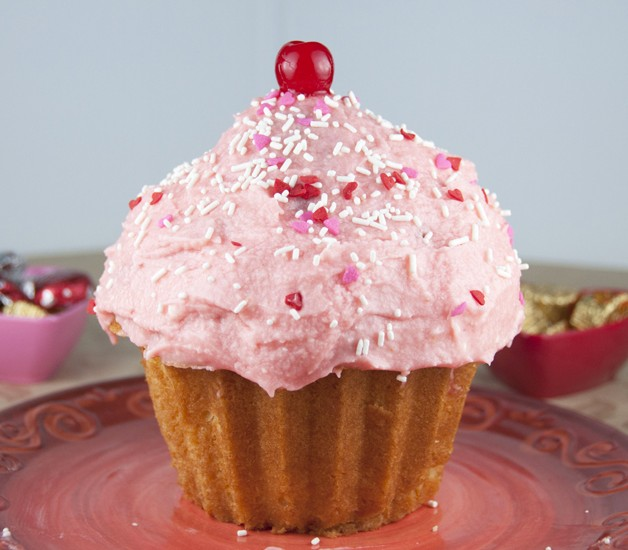 Fun Giant Cupcake Recipe made in the Wilton Pan