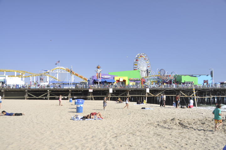Visiting the Santa Monica Pier on vacation in California