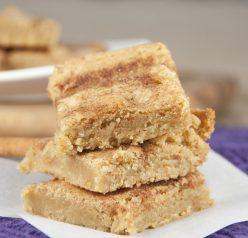 Snickerdoodle Blondies Recipe. Snickerdoodle cookies in a brownie or blondie form.
