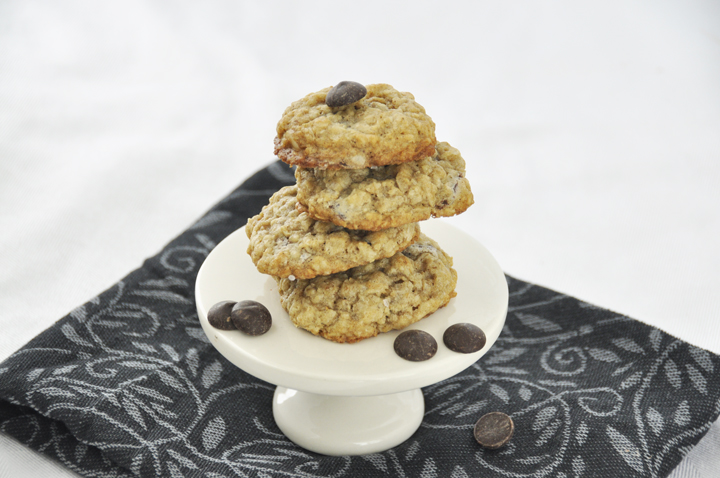 Thick & Chewy Oatmeal Chocolate Chip Cookies Recipe. The best!