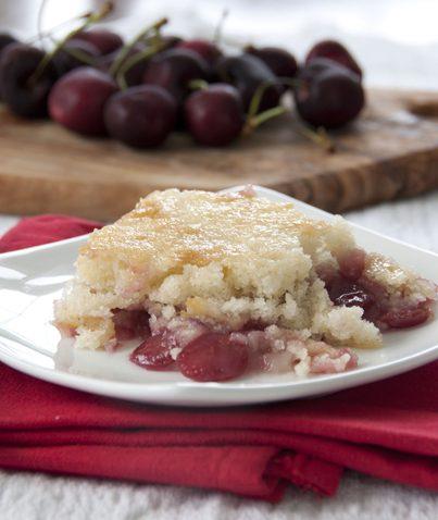 Cherry Cobbler recipe. Easy and delicious!