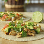 Peanut Chicken Tacos (slow cooker)