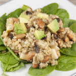 Pear Almond Barley Salad