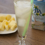 Skinny Pina Colada Drink Recipe made with coconut water and pineapple juice