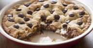 S'mores Pie dessert Recipe with a graham cracker crust and marshmallow creme