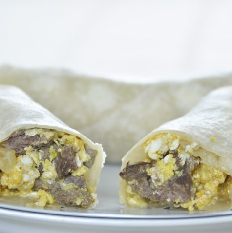 Steak and Egg Breakfast Burritos Recipe Mexican Style