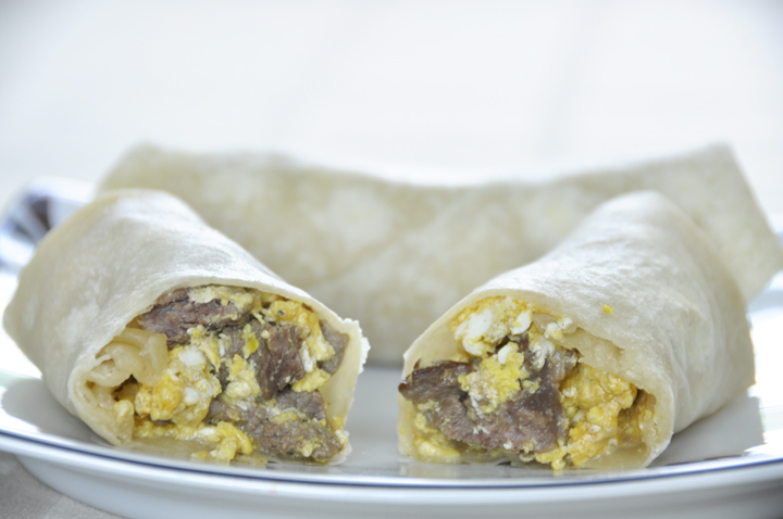 Steak and Egg Breakfast Burritos Recipe