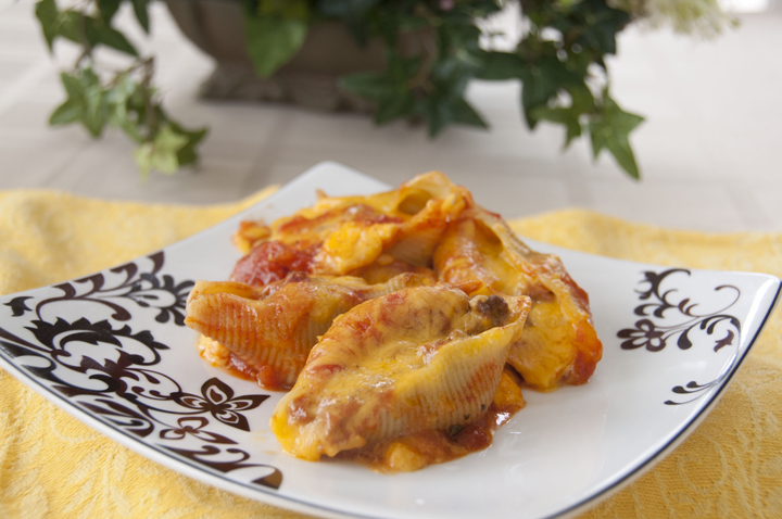 Taco Stuffed Shells recipe is quick and easy. Mexican and Italian food combined!
