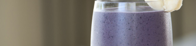 Blueberry Banana Almond Smoothie Recipe made with Almond Butter