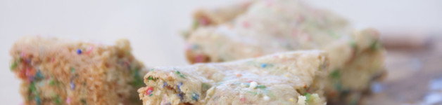 Cake Batter Blondies Recipe made with box cake mix