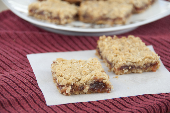 Strawberry Oatmeal Bars Recipe made with strawberry jam, a Pioneer Woman recipe.