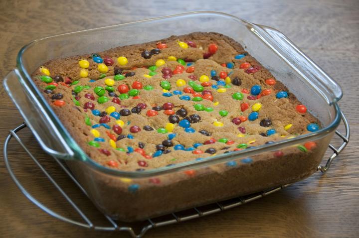 White Chocolate, Peanut Butter M & M Blondies Recipe