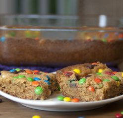 White Chocolate, Peanut Butter M & M Blondies Recipe