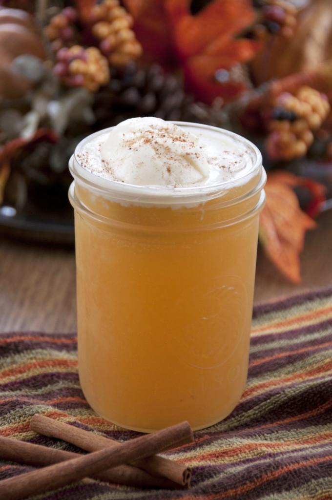 Apple Cider Floats Recipe made with ginger al and perfect for fall!