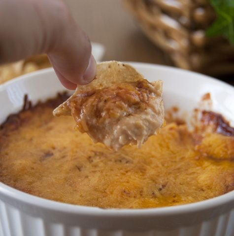 Caramelized Onion BBQ Chicken Dip. Perfect for football parties or any time you need to make an appetizer!