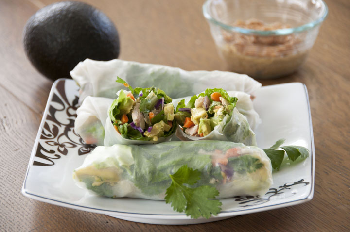 Chicken Avocado Spring Rolls Recipe with Avocados from Mexico