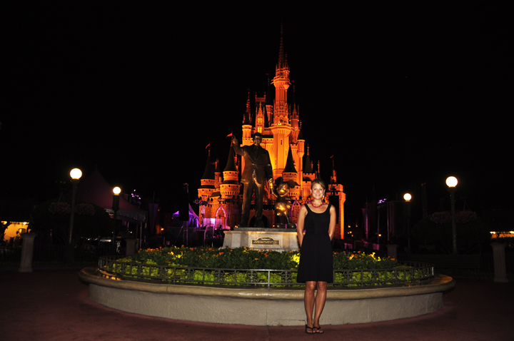 Walking around the park after dinner at Cinderella's Royal Table, Magic Kingdom (Review)
