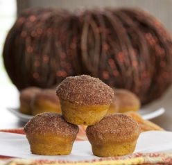Cinnamon Sugar Mini Pumpkin Donut Muffins Recipe