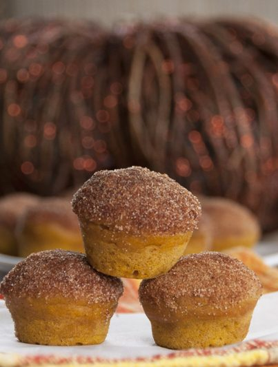 Cinnamon Sugar Mini Pumpkin Donut Muffins Recipe