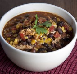 Crock Pot Chicken Taco Soup Recipe (Easy Post Trick-Or-Treating Meal!)