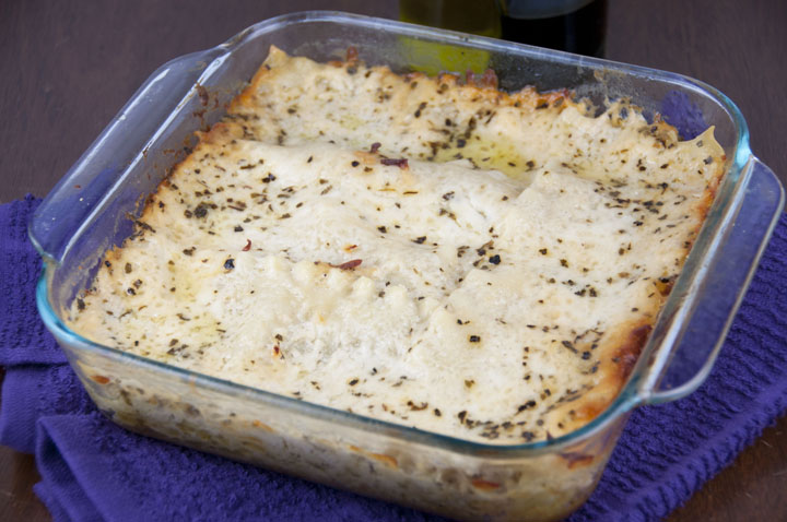 Pesto Lasagna Recipe made with Bechamel sauce. Great for a side dish or vegetarian main course dinner!