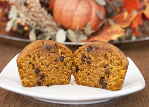 Pumpkin Chocolate Chip Muffins Recipe. Great for fall, Halloween, of Thanksgiving/Christmas breakfast!