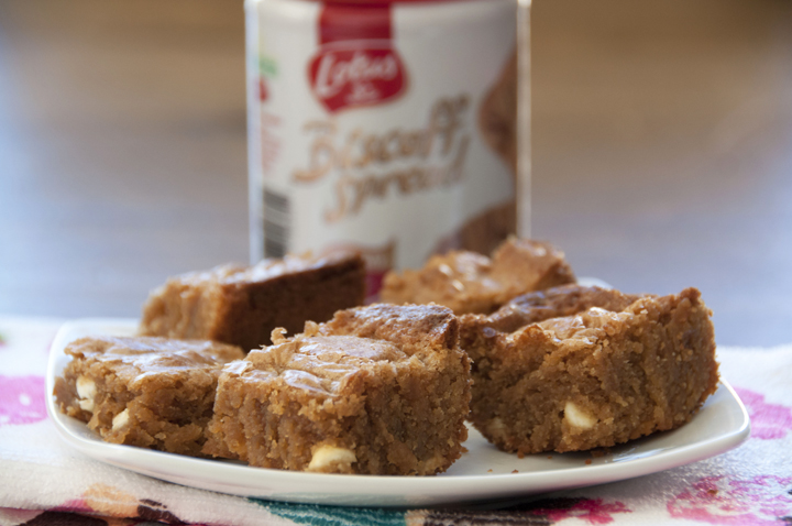 White Chocolate Biscoff Blondies Recipe