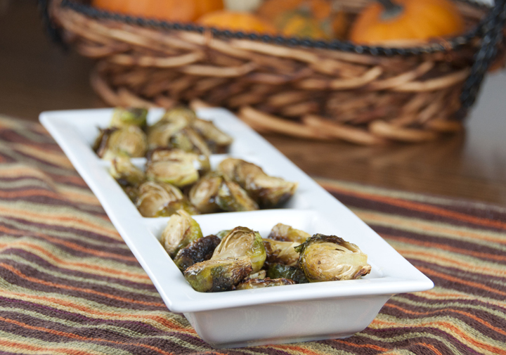 These roasted brussels sprouts are the perfect holiday side dish recipe - simply seasoned with salt, pepper, lemon juice and olive oil, then slow-roasted in a very hot oven until nice and crispy.)