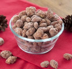 Cinnamon Vanilla Toasted Almonds Recipe that is great for any holiday or hostess gift. Also called, candied almonds.