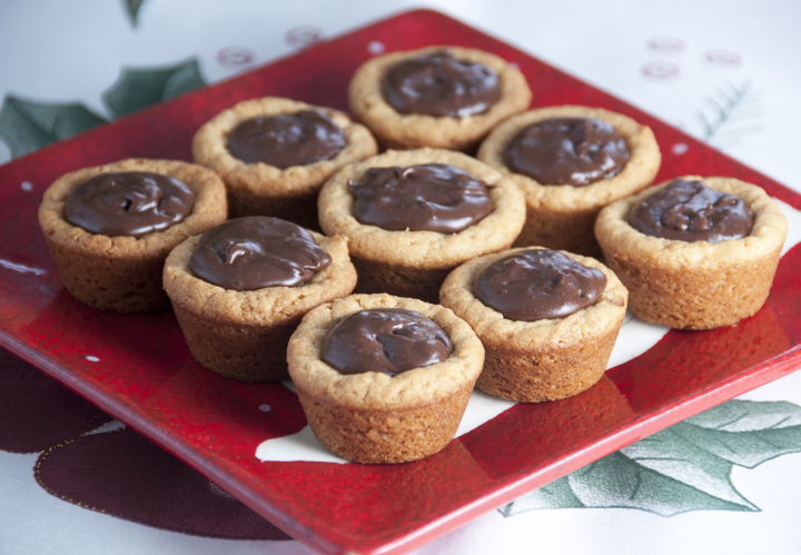 Peanut Butter Fudge Puddles Cookie Recipe for Christmas or Holidays