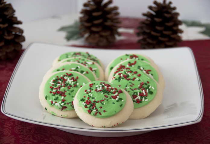 lofthouse style frosted sugar cookies recipe for christmas and holidays - Christmas Sugar Cookie Recipe